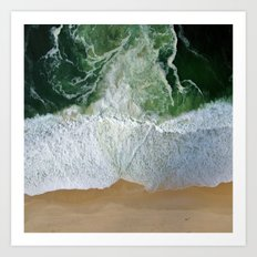 Aerial View Of Ocean Shoreline Art Print