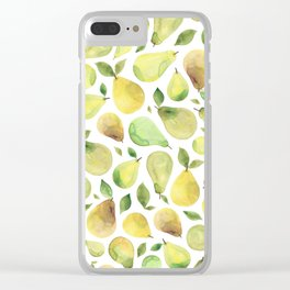 Watercolour Pears Clear iPhone Case