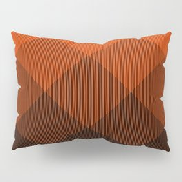 Orange to Black Ombre Signal Pillow Sham