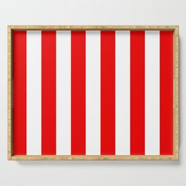 Holidaze Stripe Red White Vertical Serving Tray