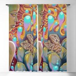 The Egg Maiden, Bearded Dragon Lizard Art Blackout Curtain