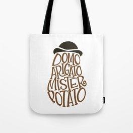 Domo Arigato, Mister Potato word art Tote Bag