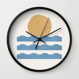 Sun Wave - Abstract Painting Wall Clock