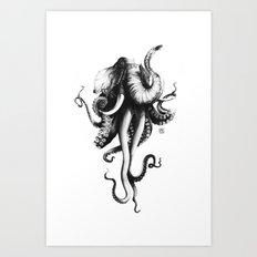Octoelephant Art Print