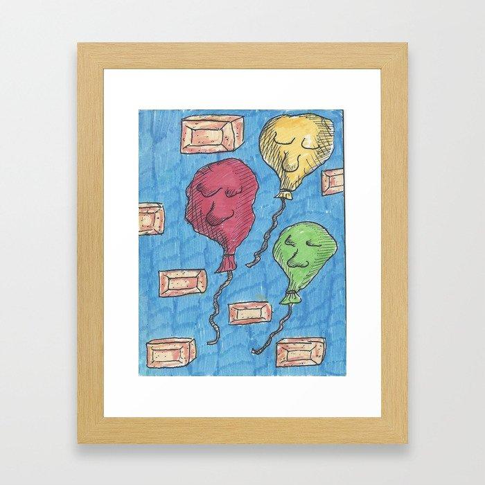 Balloons & Bricks Framed Art Print