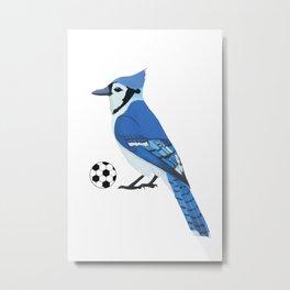 Soccer Blue Jay Metal Print