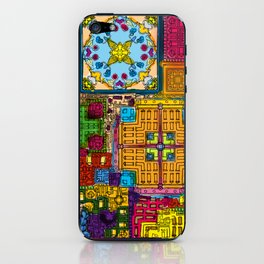 Colourful collage iPhone Skin