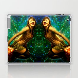 Galaxy Toot Girl | Sexy Pin Up Humor Laptop & iPad Skin