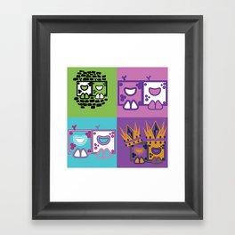 Box Face Framed Art Print