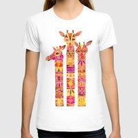 giraffes T-shirts featuring Giraffes – Fiery Palette by Cat Coquillette