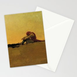 """""""Marooned"""" Pirate Art by Howard Pyle Stationery Cards"""