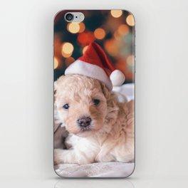 Santa Dog (Color) iPhone Skin
