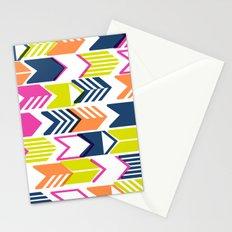 Tribal Arrows (Blue, Orange & Pink) Stationery Cards