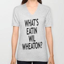 #Whatseatinwilwheaton Unisex V-Neck