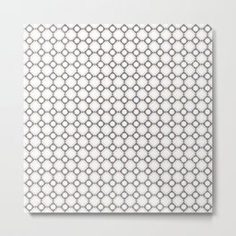 Grey oriental pattern - seamless pattern orient design Metal Print