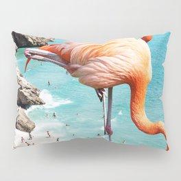 Flamingos on the Beach #society6 #decor #buyart Pillow Sham