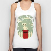 yetiland Tank Tops featuring Let's meet at the red post box by Yetiland
