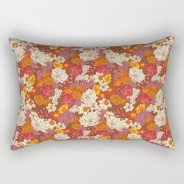 Retro Floral I Rectangular Pillow