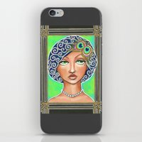 the great gatsby iPhone & iPod Skins featuring Great Gatsby by Jaymee Laws