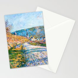 Claude Monet - The Road to Vetheuil - Digital Remastered Edition Stationery Cards