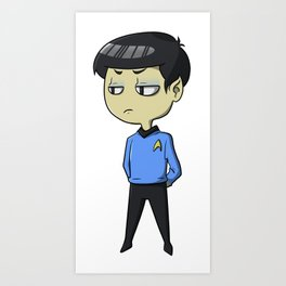 Mister Spock is not pleased Art Print