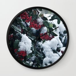 Winter and snow Wall Clock