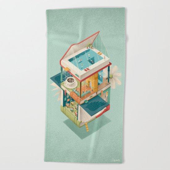 Creative house Beach Towel