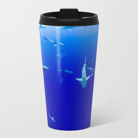 Sharks! Metal Travel Mug