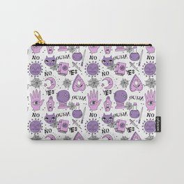 Ouija halloween potions crystal ball witch magic sorcerer pattern by andrea lauren Carry-All Pouch