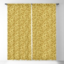 William Morris Thistle Damask in Mustard Gold Blackout Curtain