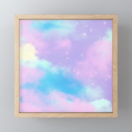 Decorative Fantasy Sky Clouds Dreamy Stardust Framed Mini Art Print