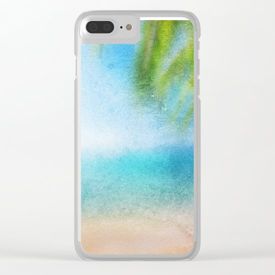Tropical Sea #3 Clear iPhone Case