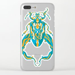 Sagra Beetle _ Psychedelic bug 3.2 _ Besouro Independente Clear iPhone Case