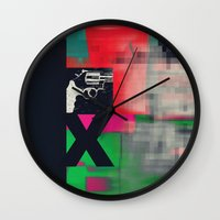 sex and the city Wall Clocks featuring Sex by Alec Goss