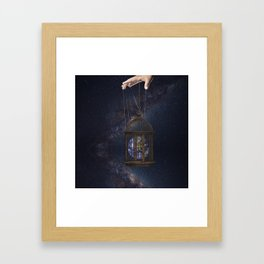 Surrealism Fantasy Earth Framed Art Print