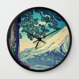 After the Snows in Sekihara Wall Clock