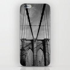 New York City, Brooklyn Bridge B/W iPhone & iPod Skin