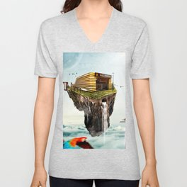Subway station in the heights Unisex V-Neck