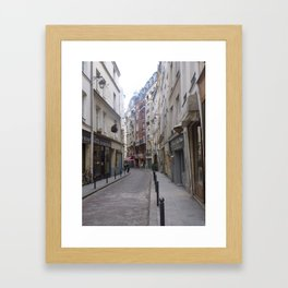 Winding Parisian alley Framed Art Print