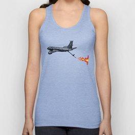 KC-135 Flames Unisex Tank Top