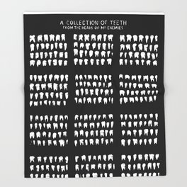 A Collection of Teeth Throw Blanket
