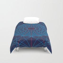 Geometric Circle Blue/Red Duvet Cover