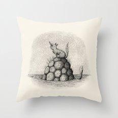 'Where Did You Go?' (Grey) Throw Pillow