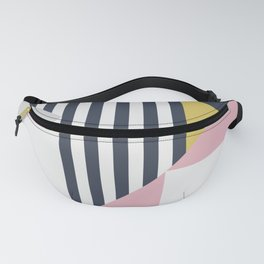 Modern Geometry // Pink + Gold Fanny Pack