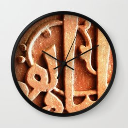 Carved in Stone Wall Clock