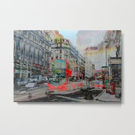 London IX - Red Buses Metal Print