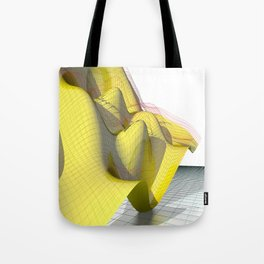 Waved yellow surface Tote Bag