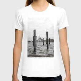 venice, italy   b&w city landscape photography T-shirt