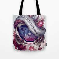 contact Tote Bags featuring Contact by Chris B. Murray