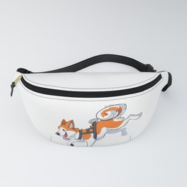 Orange Husky Running Fanny Pack